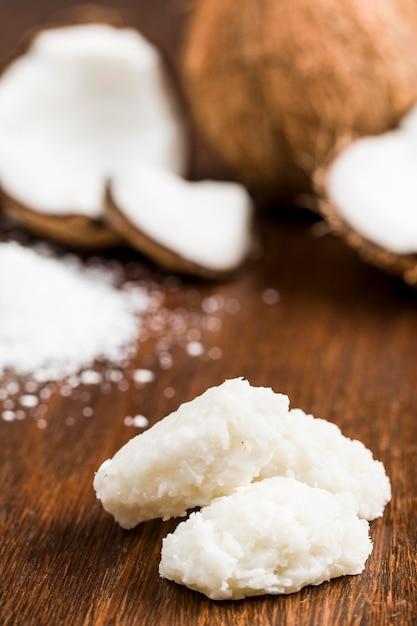 Cocada (kokosnuss süß) ist eine typisch brasilianische süßigkeit. Kostenlose Fotos
