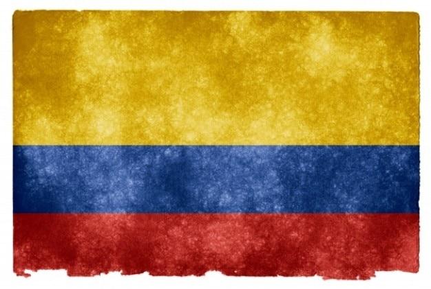 Colombia grunge flag Kostenlose Fotos