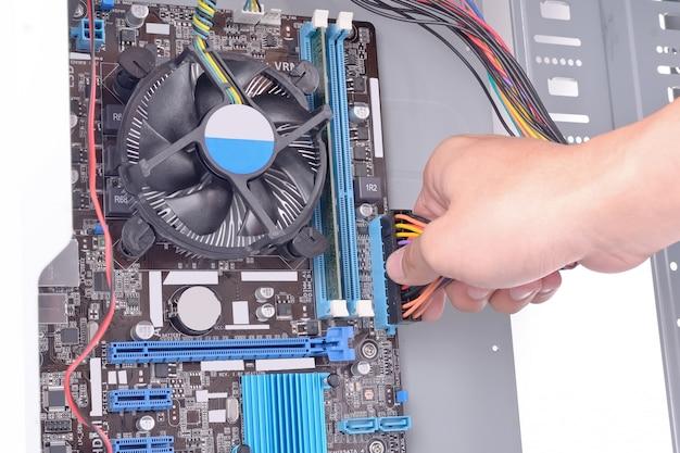 Computer aufbauen Premium Fotos