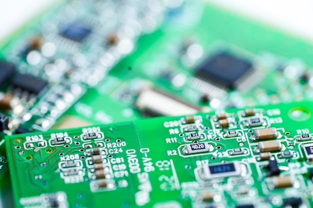 Computer-cpu-chip-mainboard-core-prozessor-elektronik-gerät. Premium Fotos