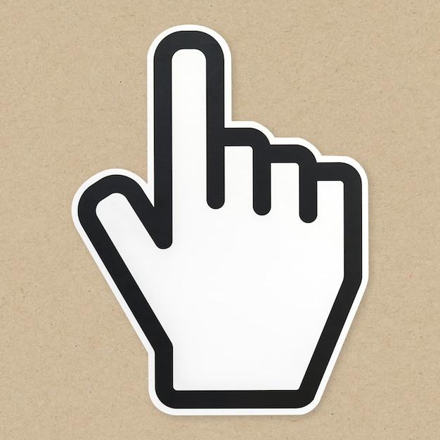Computerpfeil-cursor-symbol isoliert Kostenlose Fotos