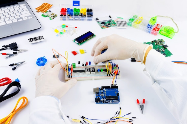 Computerprogrammierung mikroelektronik Premium Fotos
