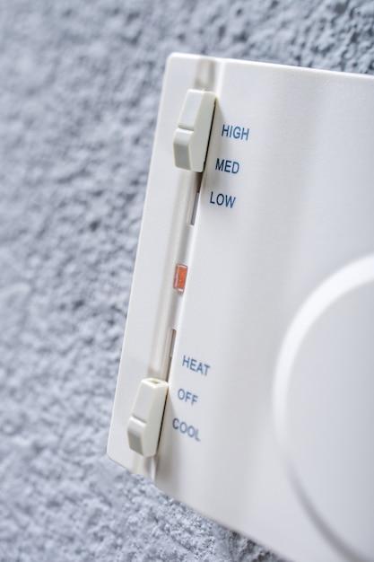 Conditioner-schalter für mechanische schieberegler, conditioner-schalter für mechanische schieberegler Premium Fotos