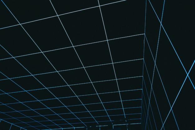 Cooler abstrakter raum der virtuellen realität, der untergeht Kostenlose Fotos