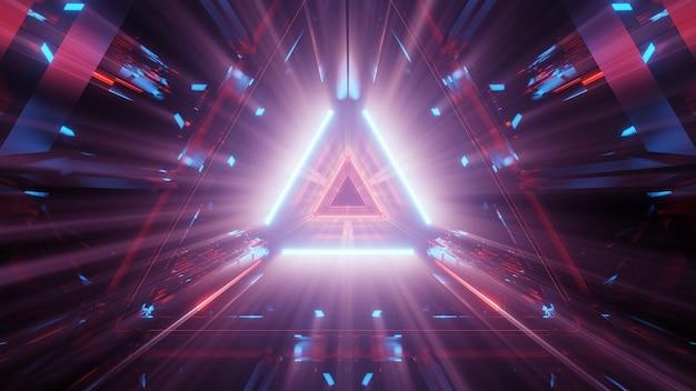 Cooler futuristischer abstrakter hintergrund mit leuchtenden neonlichtern Kostenlose Fotos