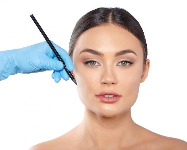 Cosmetology schönheitskonzept der plastischen chirurgie Premium Fotos
