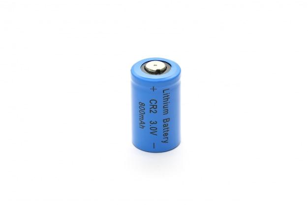 Cr2 lithium batterie isoliert Premium Fotos