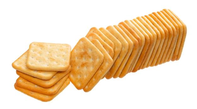 Cracker stack isoliert Premium Fotos