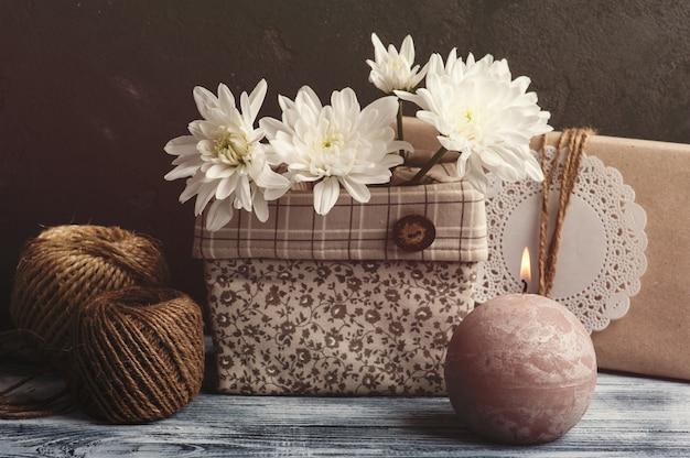 Craft handgemachte geschenkbox Premium Fotos
