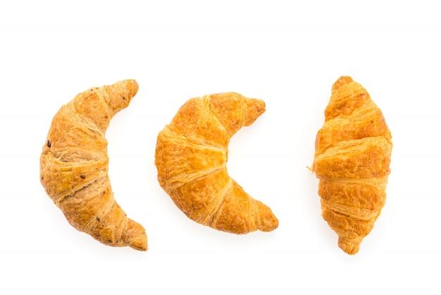 Croissant isoliert auf weißem hintergrund Kostenlose Fotos