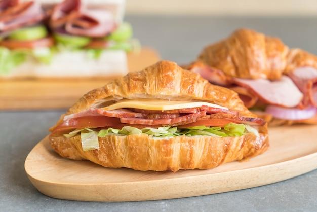 Croissant sandwich schinken Kostenlose Fotos