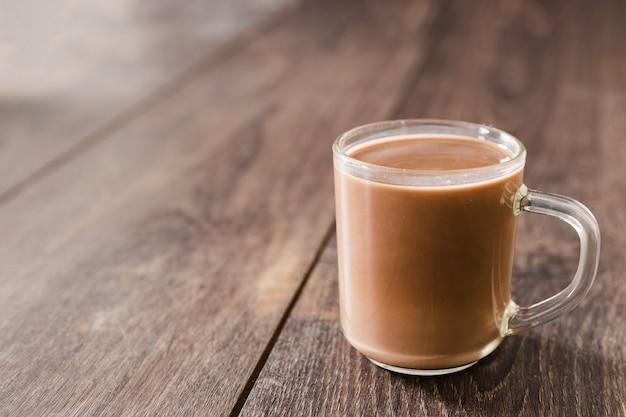 Cup heiße schokolade mit exemplarplatz Kostenlose Fotos