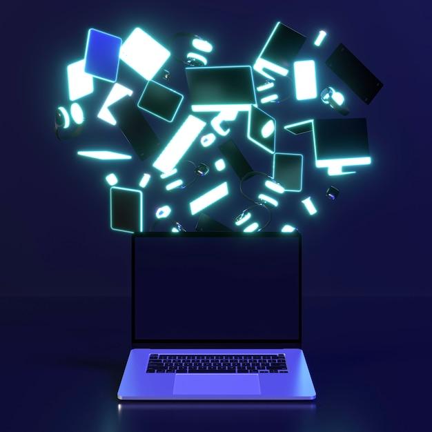 Cyber montag symbol mit computern Kostenlose Fotos