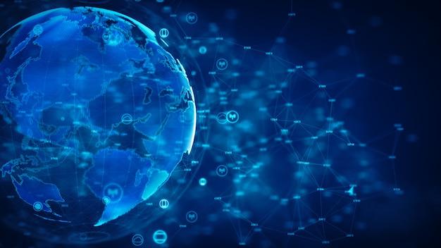 Cybersicherheit und schutz von informationsnetzwerken. Premium Fotos