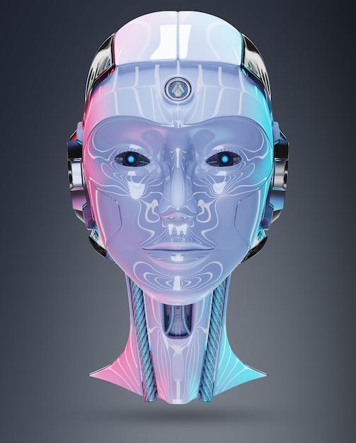 Cyborg kopf künstliche intelligenz Premium Fotos