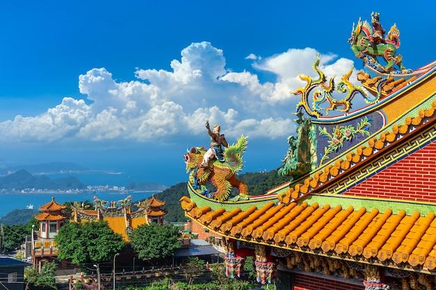 Dach des tempels in der alten straße jiufen, taiwan Kostenlose Fotos