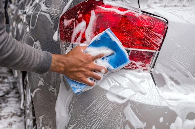 Das auto, autopflegekonzept säubern Premium Fotos