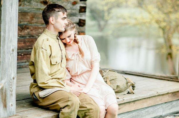 Das lang erwartete treffen mit princess bride und ihrem ritter-retrostil wurde intensiviert Premium Fotos