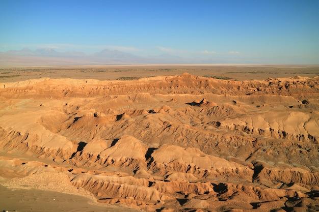Das mondtal oder el valle de la luna in der atacama-wüste Premium Fotos