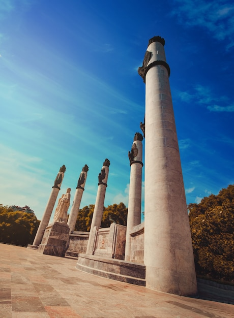 Das monument a los niños heroes, offiziell altar a la patria (altar der heimat) in mexiko-stadt Premium Fotos