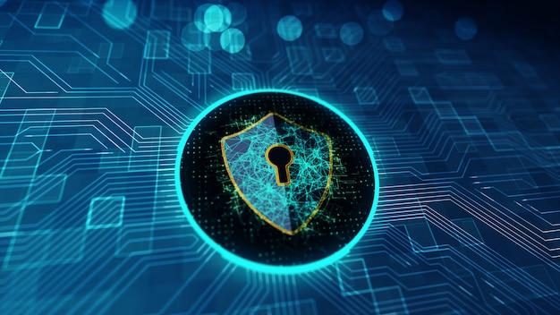 Datenschutz cyber security-konzept. Premium Fotos