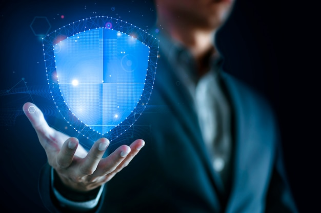 Datenschutz und netzwerksicherheit Premium Fotos