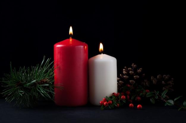 Dekorative kerzen für weihnachten Kostenlose Fotos