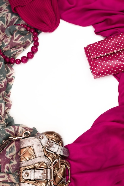 Dekorativer drapierrahmen aus textil. Premium Fotos