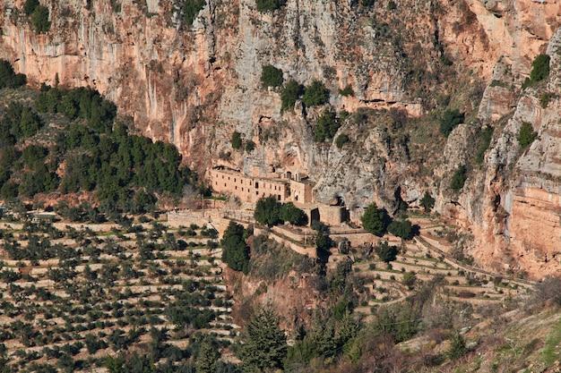 Der blick auf kadisha valley, libanon Premium Fotos