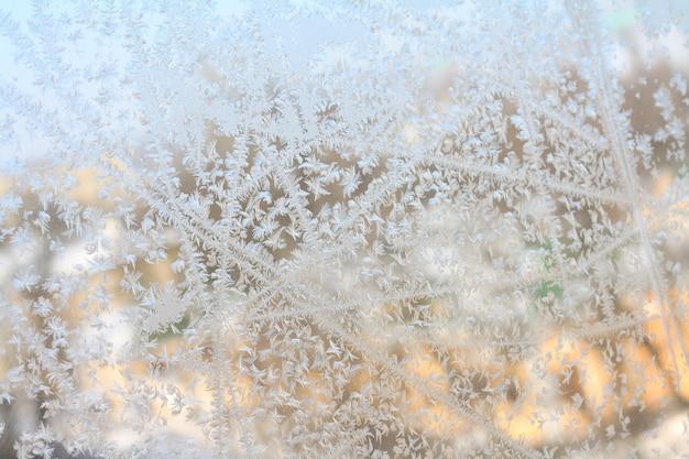 Der frost am fenster Premium Fotos