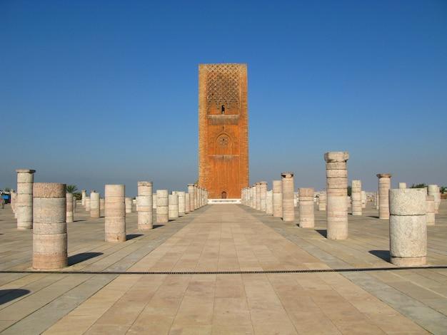 Der hassan turm, rabat, marokko Premium Fotos