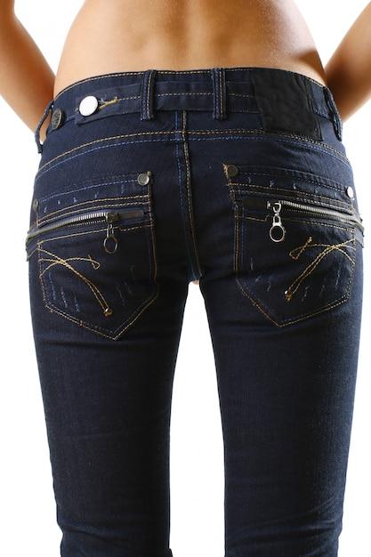 Der körper der schönen frau mit stilvollen jeans Kostenlose Fotos