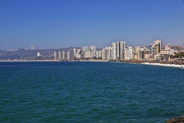 Der strand von vina del mar, chile Premium Fotos