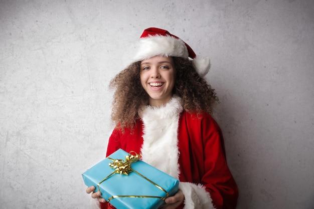 Der weihnachtsmann ist da Premium Fotos
