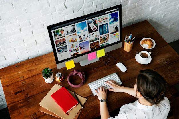 Designer bei der arbeit Premium Fotos