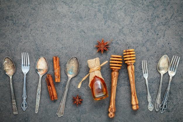 Desserts hintergrund und menü-design. Premium Fotos