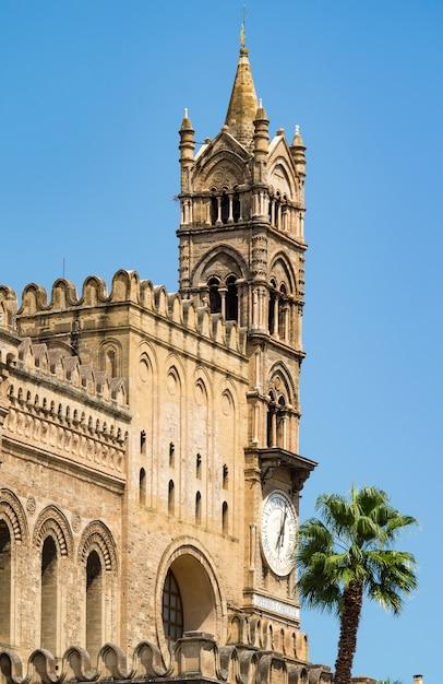 Detail der kathedrale von palermo, sizilien Premium Fotos