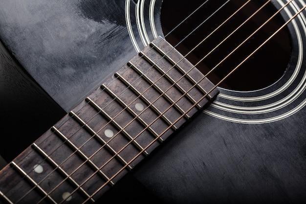 Detail der klassischen gitarre Premium Fotos