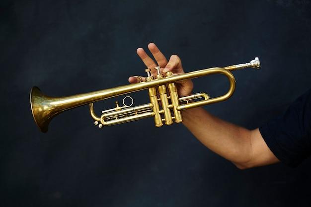 Detail eines trompetenmetallinstruments Kostenlose Fotos