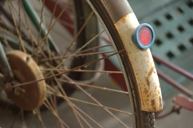 Detail eines weinlese-fahrrades Premium Fotos