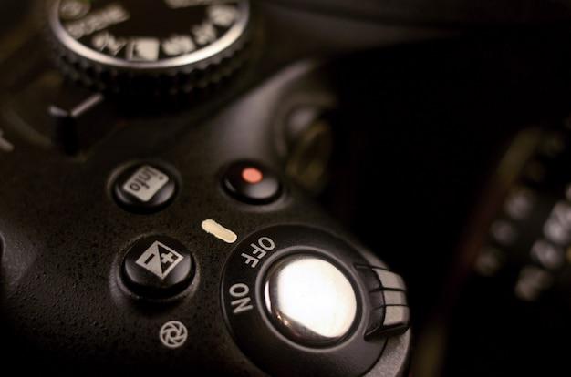 Details der modernen digitalen slr-fotokamera Premium Fotos
