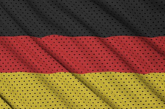 Deutschland-flagge gedruckt auf einem sportswear-netzgewebe aus polyester-nylon Premium Fotos