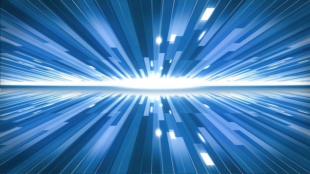 Die blauen linien im technologiekonzepthintergrund. Premium Fotos