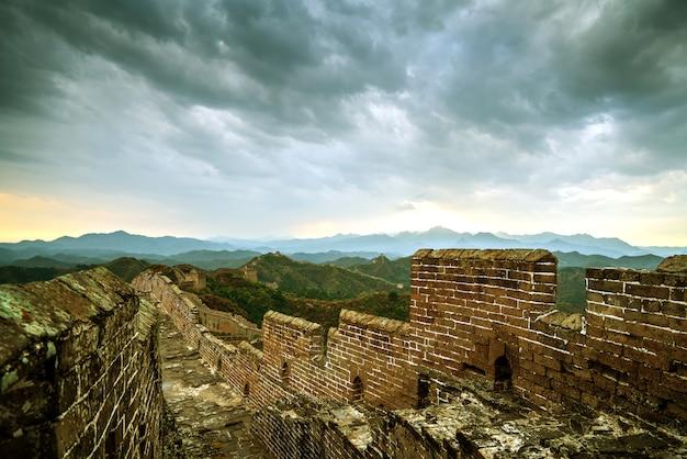Die chinesische mauer Premium Fotos