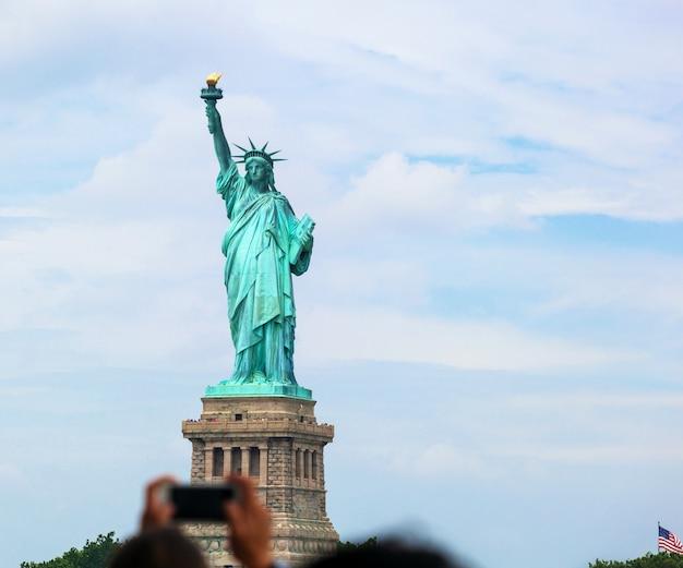Die freiheitsstatue in new york city Premium Fotos