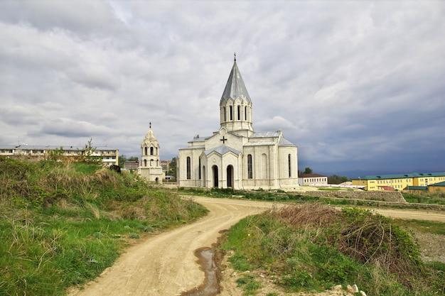 Die kirche in der shushi stadt, nagorno - karabach, kaukasus Premium Fotos
