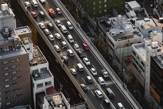 Die metropolitan expressway nr. 3 shibuya linie und stadt, tokio, japan Premium Fotos