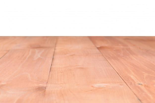 Die oberfläche der hölzernen braunen tabelle Premium Fotos