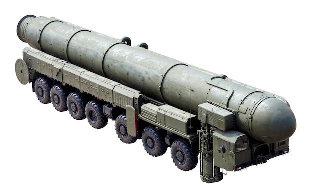 Die rs-24-yars, auch als rt-24-yars bekannt, sind eine russische interkontinentalrakete mit mirv-ausrüstung und thermonuklearer waffe Premium Fotos