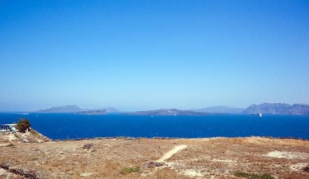 Die santorini insel vulkan griechenland Premium Fotos